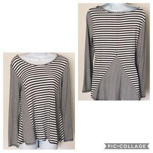 EUC, Cynthia Rowley Black & White Striped Top